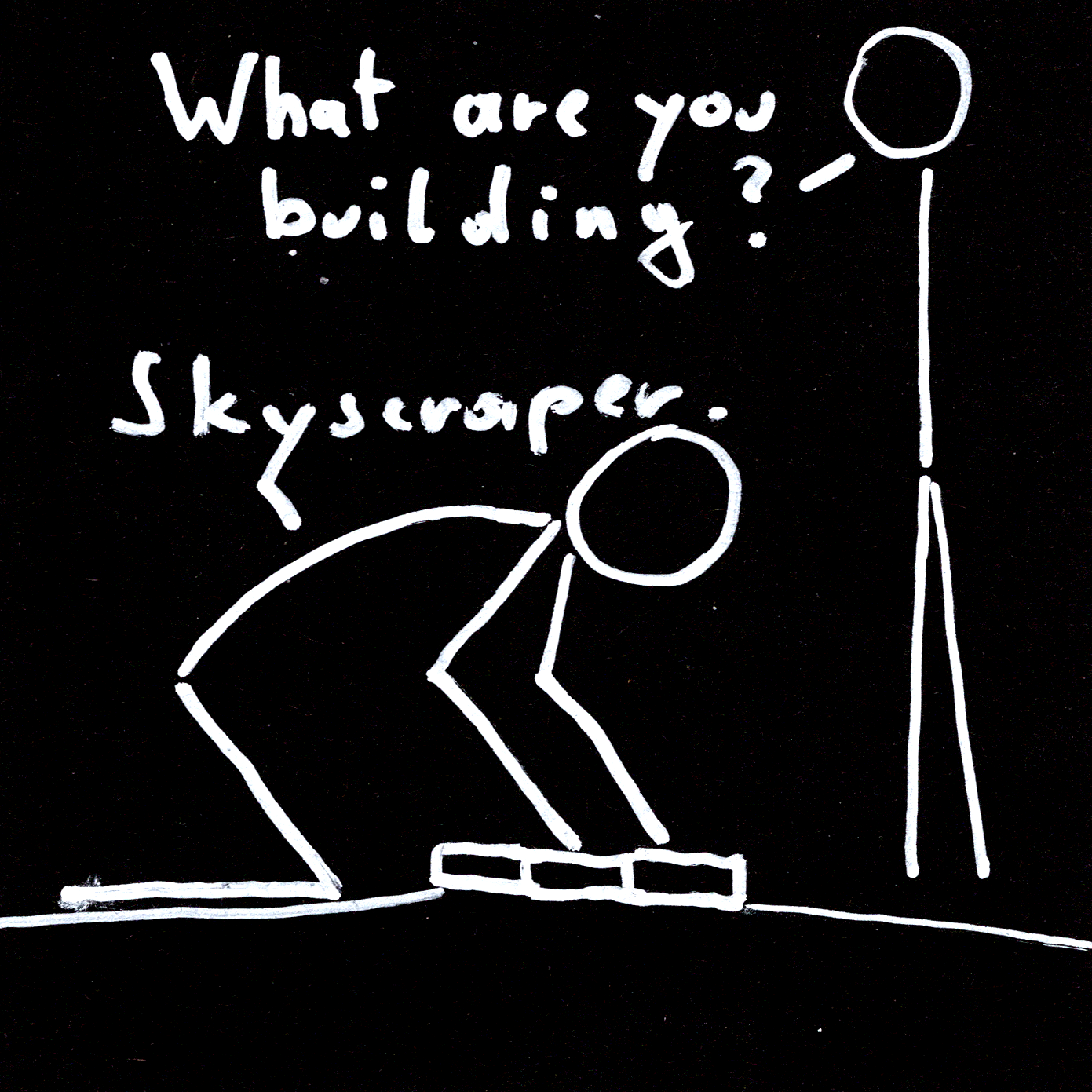 What are you building? Skyscraper.